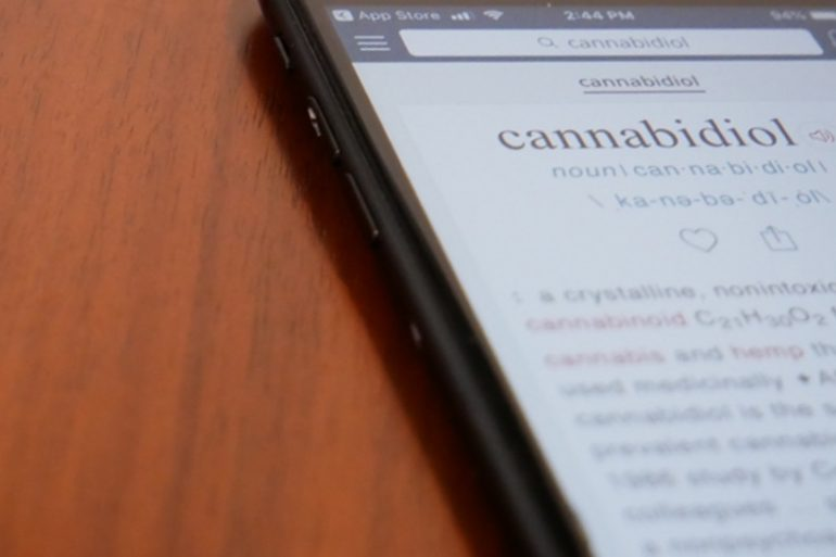 definition of cannabidiol in the dictionary